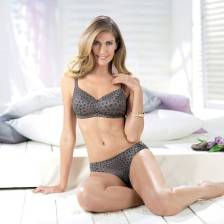 Concealing soft cup, back reinforced with elastic power tulle, no visible seams in cup.